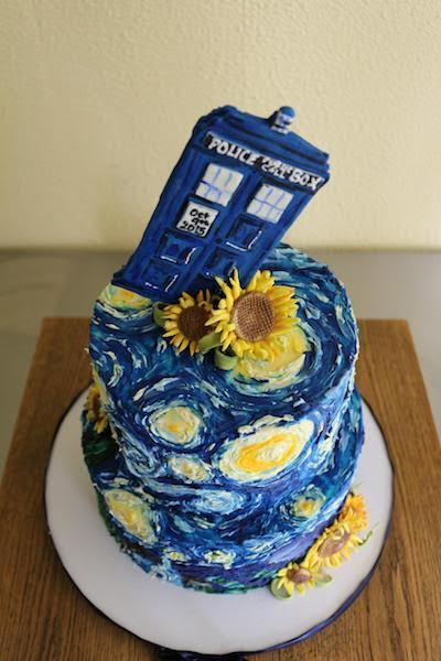 Geeky wedding wednesday doctor who geek girl authority for Tardis template for cake