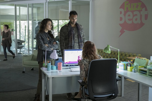 "THE MAGICIANS -- ""The Girl Who Told Time"" Episode 210 -- Pictured: (l-r) Jade Tailor as Kady, Arjun Gupta as Penny -- (Photo by: Eike Schroter/Syfy)"