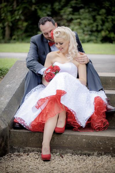 Red Polka Dot Wedding Dress