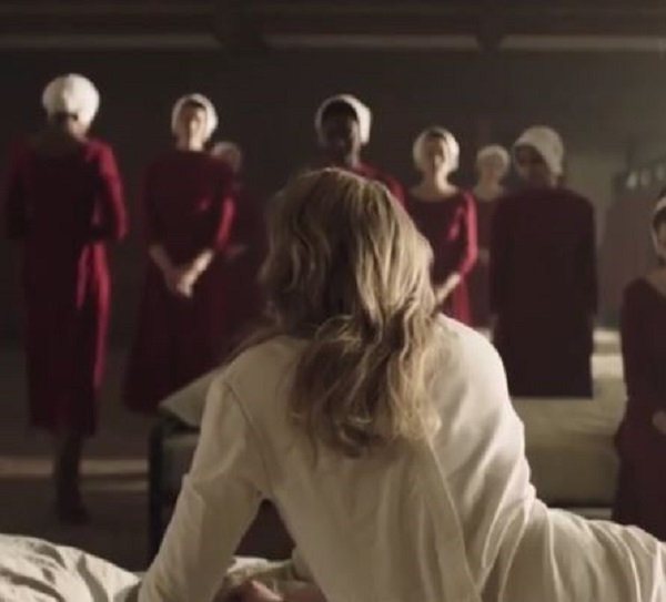 The Handmaid's Tale June in bed at Red Centre