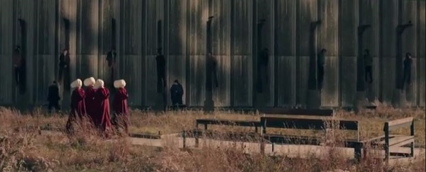 The Handmaid's Tale dead bodies hanging