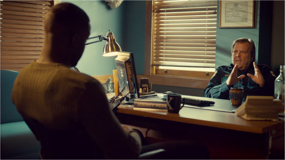 Wynonna Earp Bury Me with My Guns On Agent Dolls and Sheriff Nedley in the Office