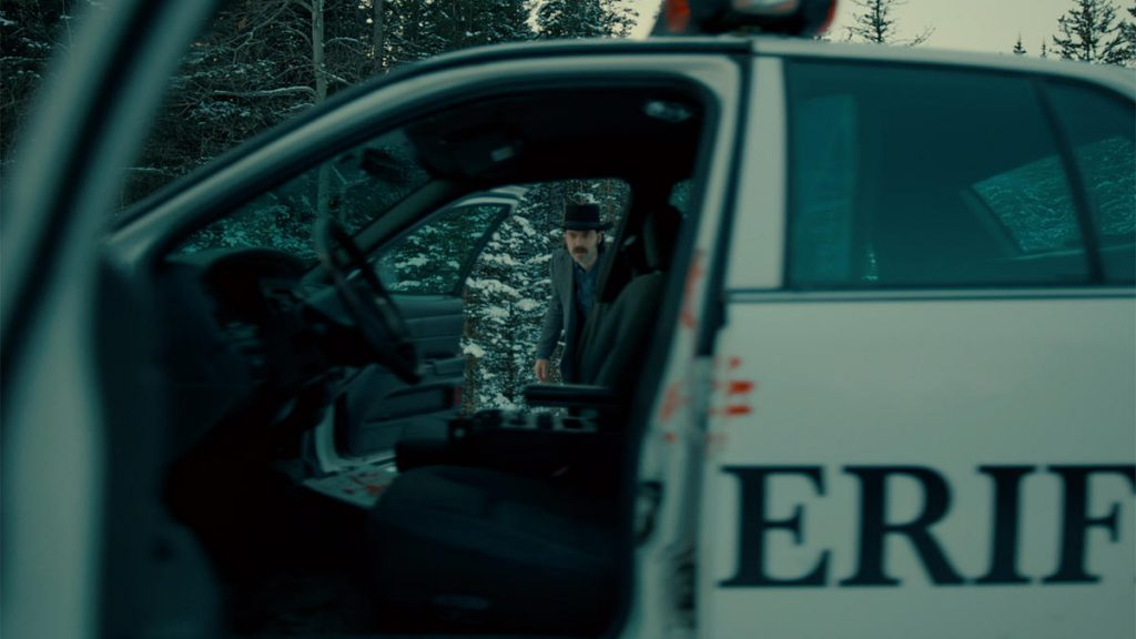 Wynonna Earp Walkin' After Midnight Doc with Officer Haught's Cop Car