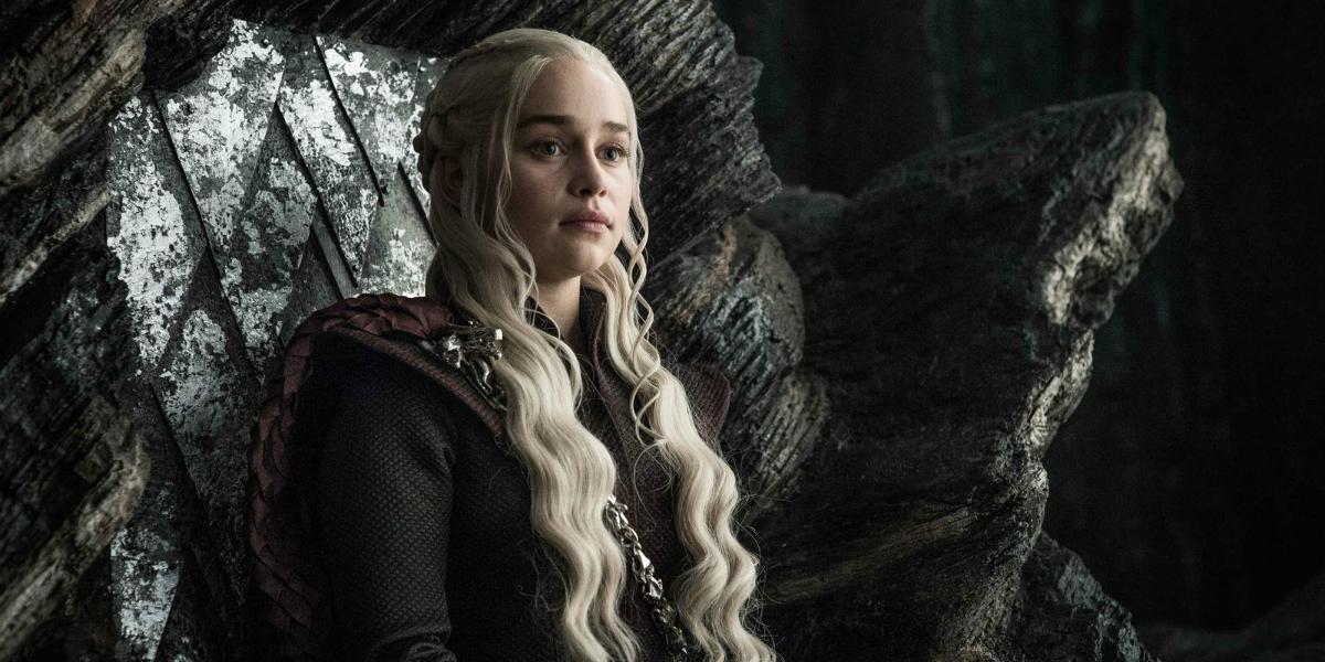 Dany on Dragon Throne GOT