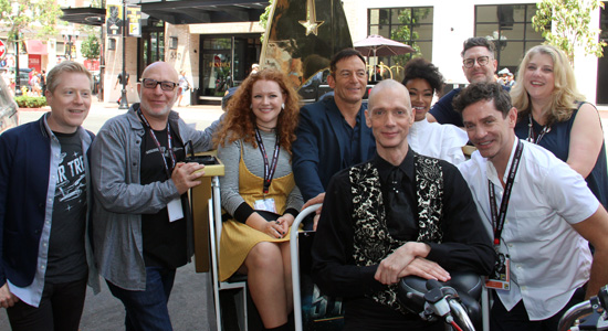 GGA Star Trek Ready Room Discovery Cast On PediCab SDCC 2017