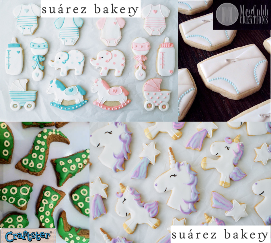 Geeky Baby Shower Wynonna Earp Shaped Sugar Cookies Tentacles Unicorns Diapers Bottles Prams Rattles