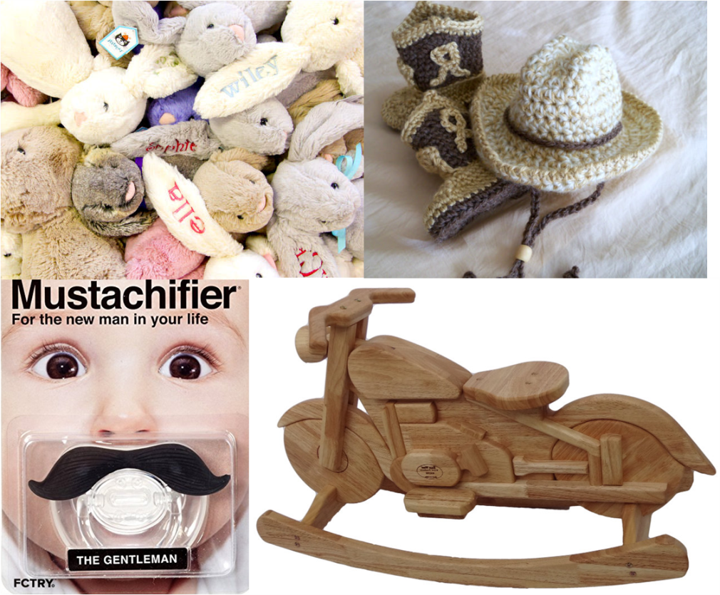 Geeky Baby Shower Wynonna Earp Gift Ideas Mustache Pacifier Embroidered Bunny Crochet Pattern Cowboy Hat Boots Motorcycle Rocking Horse