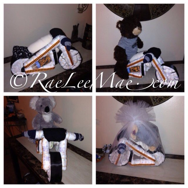 Wynonna Earp Geeky Baby Shower Motorcycle Diaper Cake By Rae Lee Mae