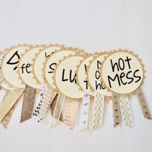 Geeky Baby Shower Wynonna Earp Snarky Ribbons By LetsWearDresses etsy