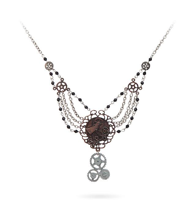 Geek Girl Authority Closet Gear Chain Necklace by ThinkGeek