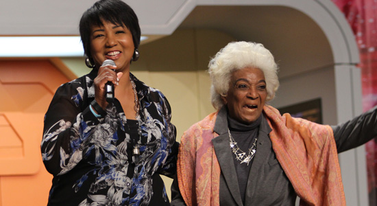 Geek Girl Authority Star Trek Ready Room Dr. Mae Jemison and Nichelle Nichols at Star Trek Las Vegas 2017