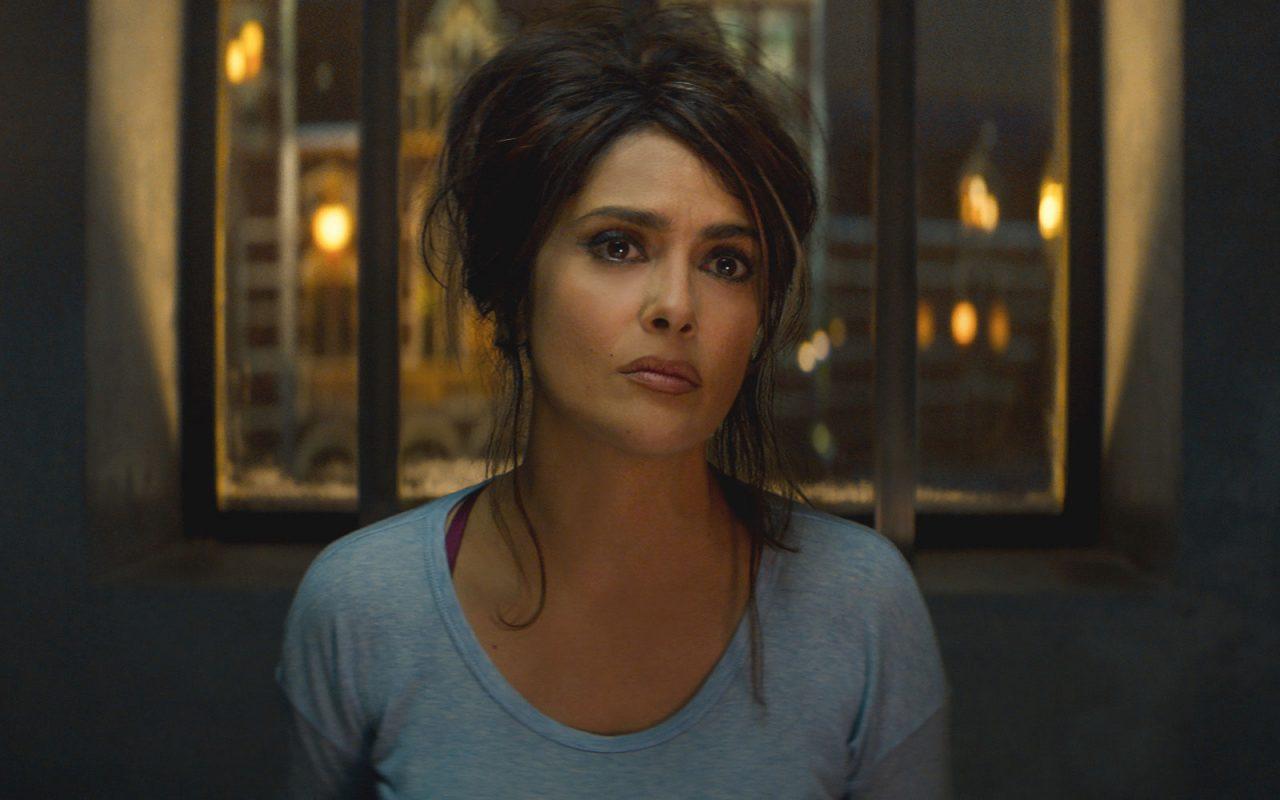 Geek Girl Authority Movie Review Hitman's Bodyguard Selma Hayek as Sonia Kinkaid