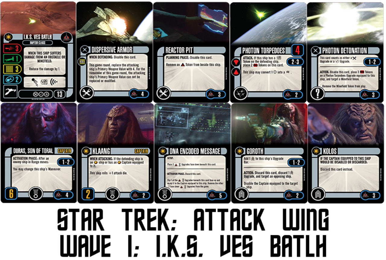 Geek Girl Authority Ready Room Star Trek Attack Wing Wave 1 Preview IKS Ves Batlh
