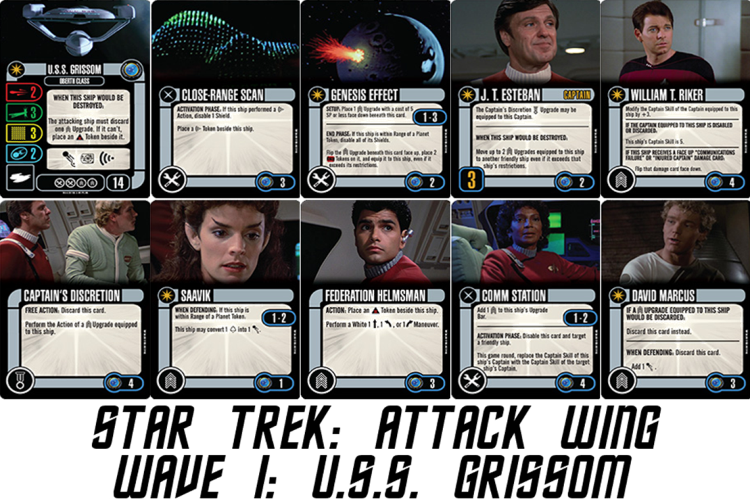 Geek Girl Authority Ready Room Star Trek Attack Wing Wave 1 Preview USS Grissom