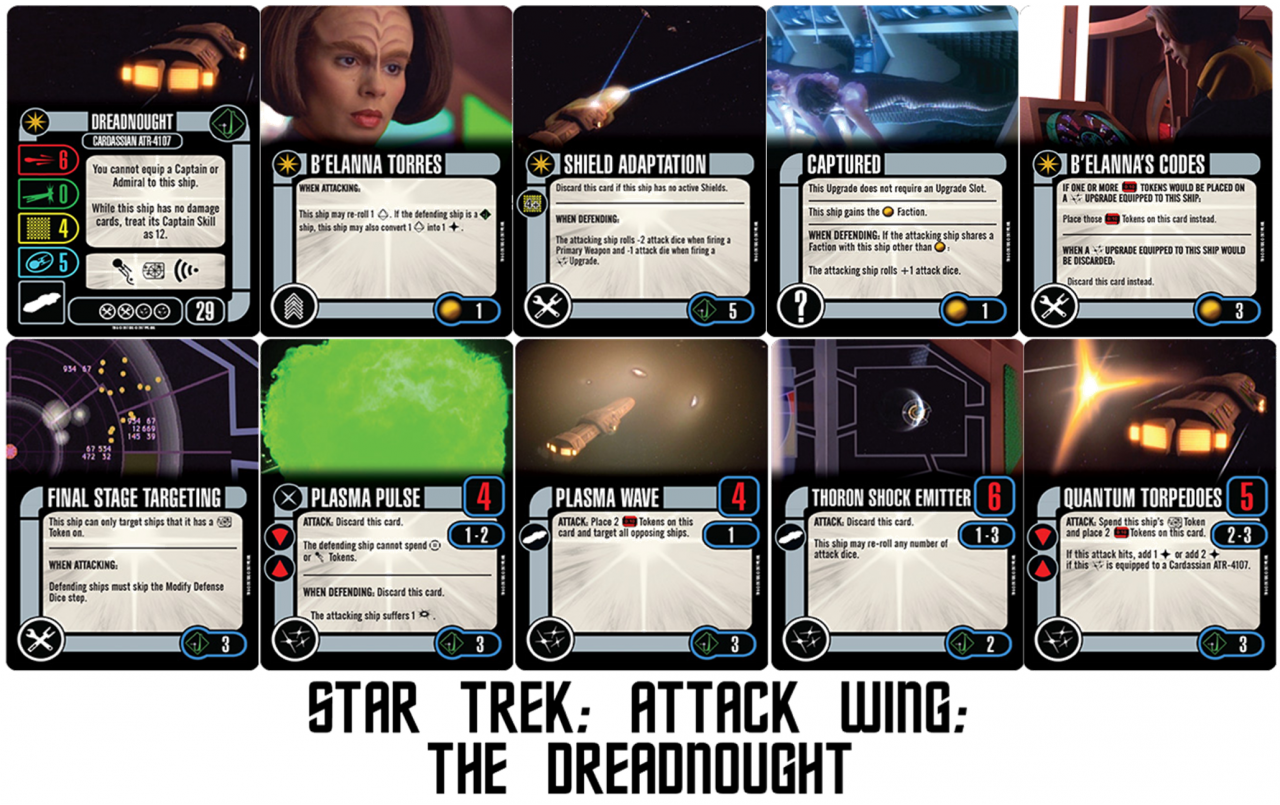 Geek Girl Authority Ready Room Star Trek Attack Wing Wave 1 Preview The Dreadnought