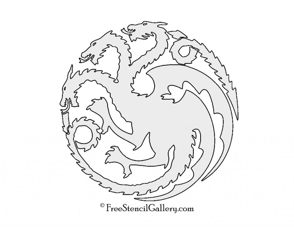 Inventive image with game of thrones stencil printable