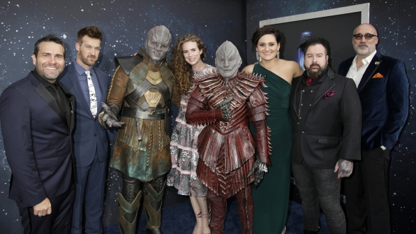 Star Trek Discovery Red Carpet Premiere James MacKinnon Kenneth Mitchell Clare McConnell Mary Chieffo Glenn Hetrick Neville Page
