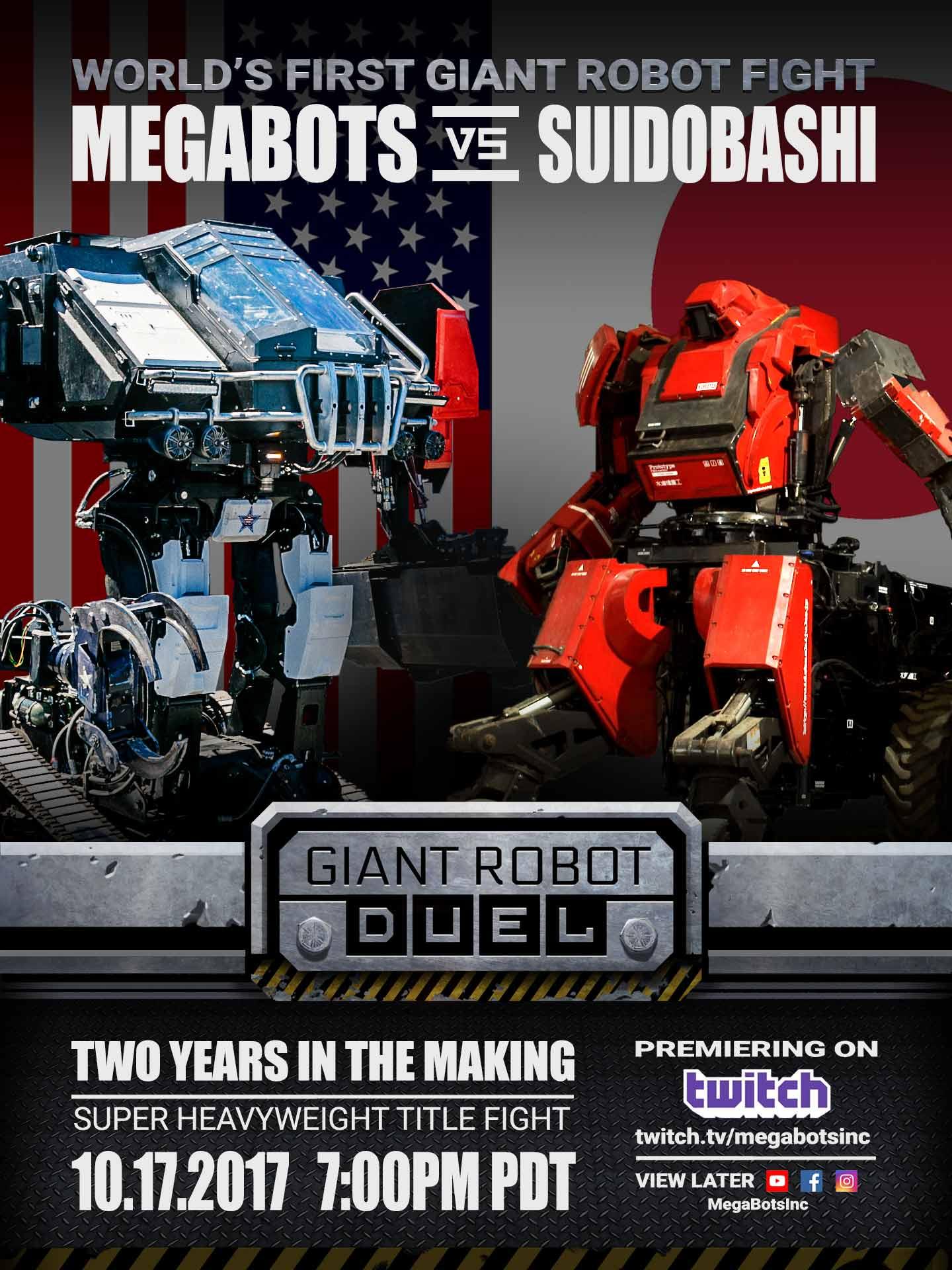 MEGABOTS: USA vs JAPAN - An Epic Manned Robot Duel Begins