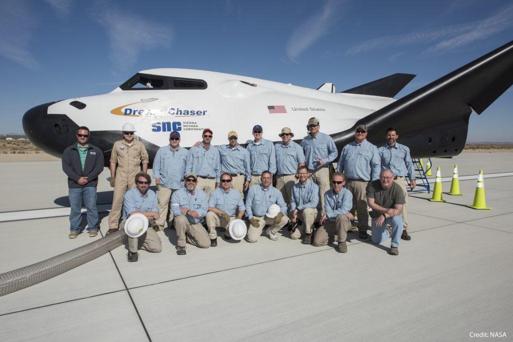 Sierra Nevada Corporation Dream Chaser Team Photo Free-Flight Test November 2017