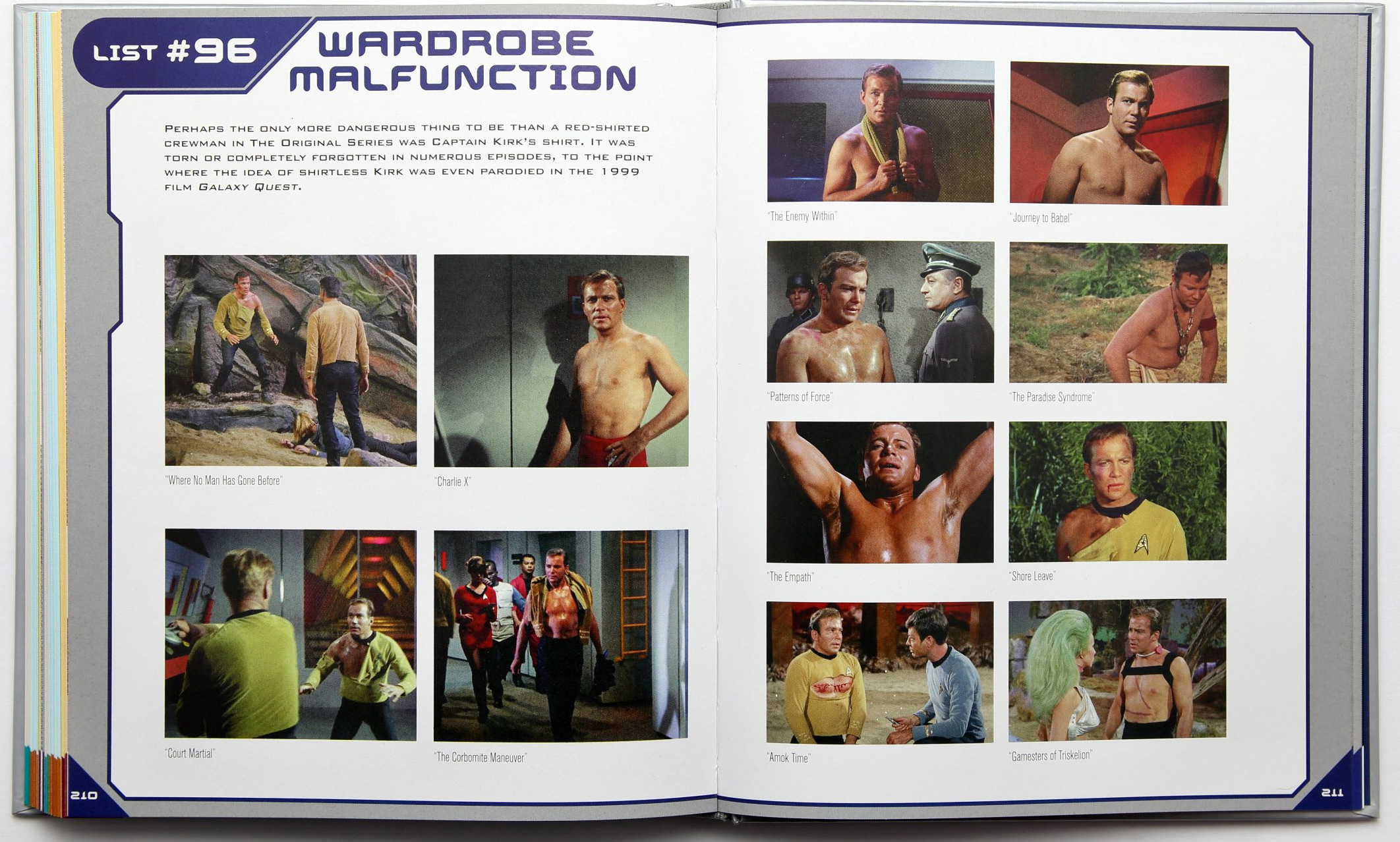 Star Trek Book Of Lists Wardrobe Malfunctions