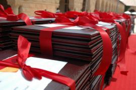 stack of diplomas