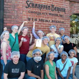 Storey house tour of Scharfenberg chocolate factory San Francisco