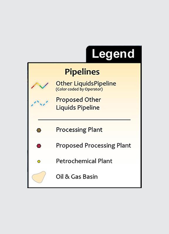 U.S. Other Liquids HVL/NGL/LPG Infrastructure Wall Map legend