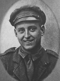 Attached photograph of Private Benson