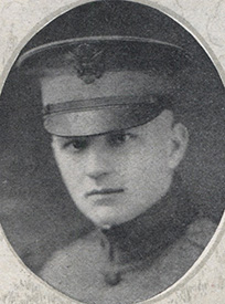 Attached photograph of Second Lieutenant Berger