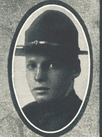Attached photograph of Corporal Burns