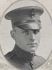 Attached photograph of Second Lieutenant Dillon