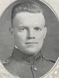 Attached photograph of Second Lieutenant Kinne