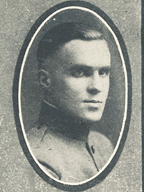 Attached photograph of Second Lieutenant Sage