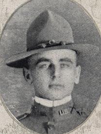Attached photograph of Second Lieutenant McCoy