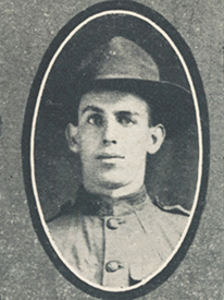 Attached photograph of Private Ostrander