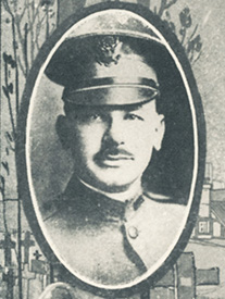 Attached photograph of First Lieutenant Wallaber