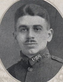Attached photograph of Lieutenant Wright