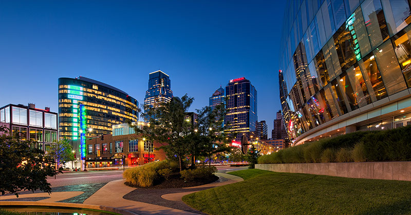 Downtown KC and Sprint Center by David Arbogast