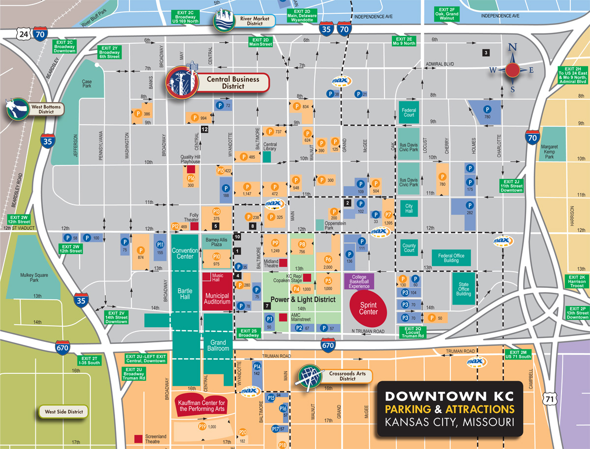 Downtown Parking Map  Visit KC