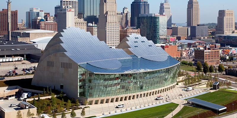 Kauffman Center for the Performing Arts, downtown Kansas City, MO