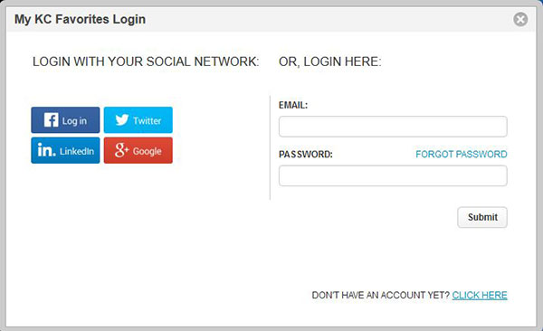 Social Login Favorites