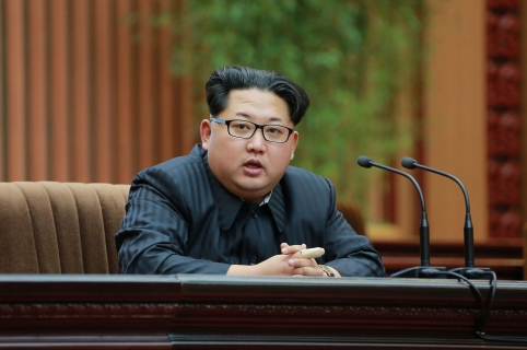 "This photo taken on February 17, 2016 and released by North Korea's official Korean Central News Agency (KCNA) on February 19, 2016 shows North Korean leader Kim Jong-Un (C) giving a speech at an awards ceremony for scientists who contributed to the launch of the earth observation satellite Kwangmyong 4 in Pyongyang.         REPUBLIC OF KOREA OUT     AFP PHOTO / KCNA via KNS      THIS PICTURE WAS MADE AVAILABLE BY A THIRD PARTY. AFP CAN NOT INDEPENDENTLY VERIFY THE AUTHENTICITY, LOCATION, DATE AND CONTENT OF THIS IMAGE. THIS PHOTO IS DISTRIBUTED EXACTLY AS RECEIVED BY AFP.     ---EDITORS NOTE--- RESTRICTED TO EDITORIAL USE - MANDATORY CREDIT ""AFP PHOTO/KCNA VIA KNS"" - NO MARKETING NO ADVERTISING CAMPAIGNS - DISTRIBUTED AS A SERVICE TO CLIENTS / AFP / KCNA / KCNA"