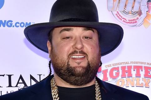 """LAS VEGAS, NV - FEBRUARY 05:  Austin """"Chumlee"""" Russell from History's """"Pawn Stars"""" television series arrives at the eighth annual Fighters Only World Mixed Martial Arts Awards at The Palazzo Las Vegas on February 5, 2016 in Las Vegas, Nevada.  (Photo by David Becker/WireImage)"""