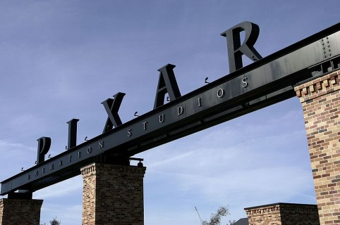 EMERYVILLE, CA - JANUARY 19:  The Pixar logo is seen at the main gate of Pixar Animation Studios January 19, 2006 in Emeryville, California. The Walt Disney Co. is reportedly in talks to buy Pixar Animation Studios Inc., a deal that would reportedly make Pixar CEO Steve Jobs the largest individual shareholder in Disney.  (Photo by Justin Sullivan/Getty Images)