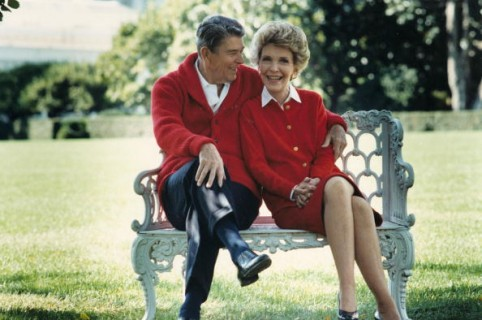 402010 01: Former U.S. President Ronald Reagan and First Lady Nancy Reagan share a moment in this undated file photo. The couple celebrated their 50th wedding anniversary on March 4th 2002. (Photo courtesy Ronald Reagan Presidental Library/Getty Images)