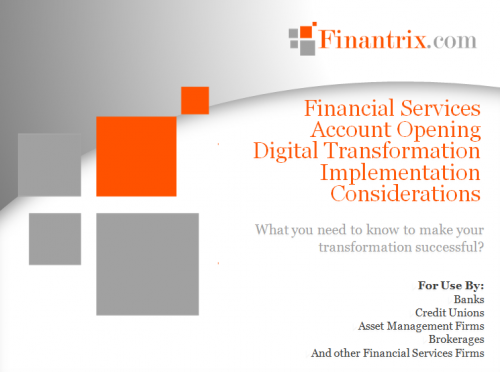 Digital Account Opening Transformation Implementation Considerations