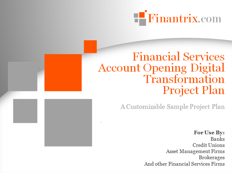 Account Opening Digital Transformation Project Plan