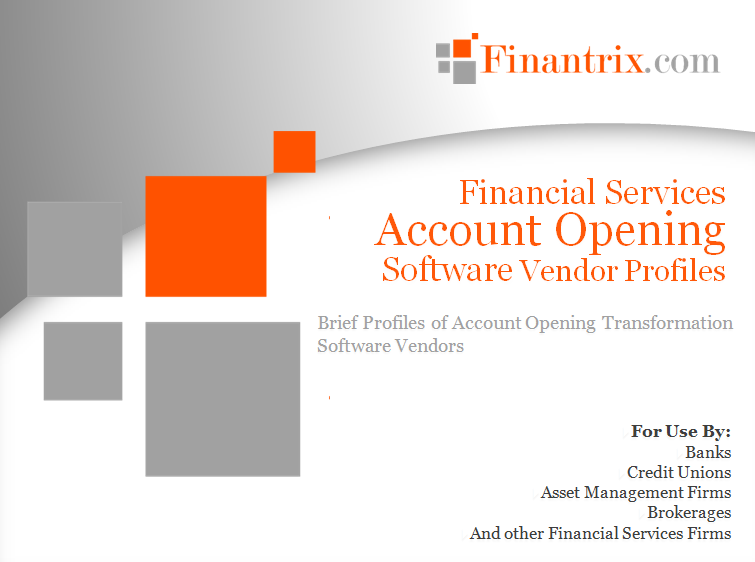Financial Services Account Opening Software Vendor Profiles
