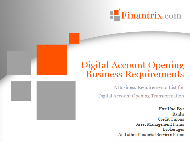 Wealth Management Account Opening Business Requirements
