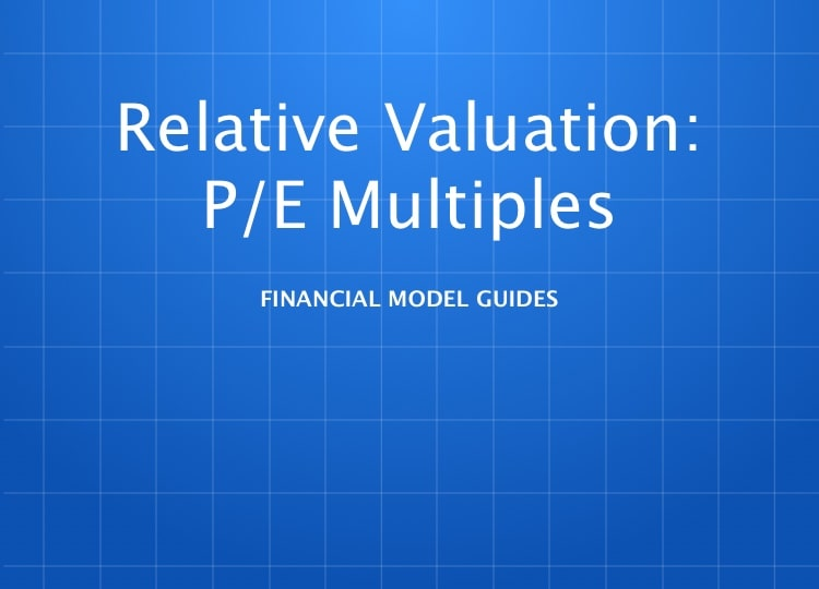Multiples Valuation: P/E Multiples Comparable Company Analysis Model